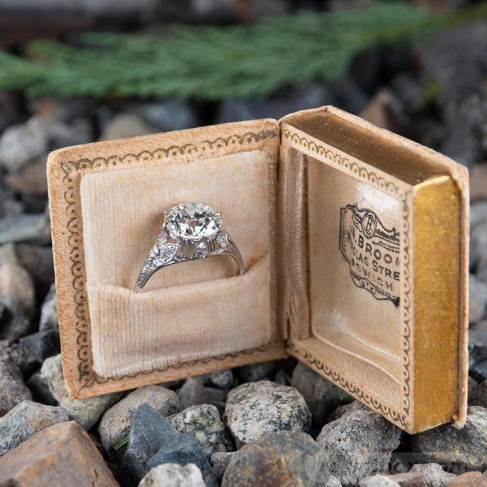 Art deco engagement ring-204702745549589251