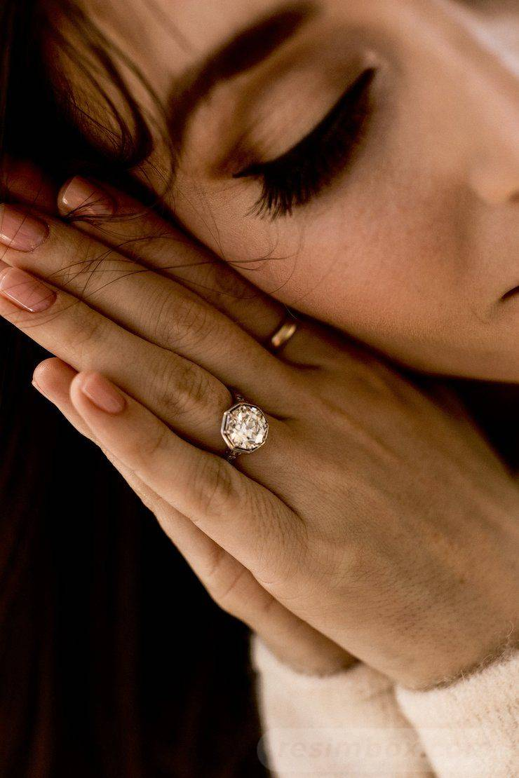 Art deco engagement ring-382594930840976752