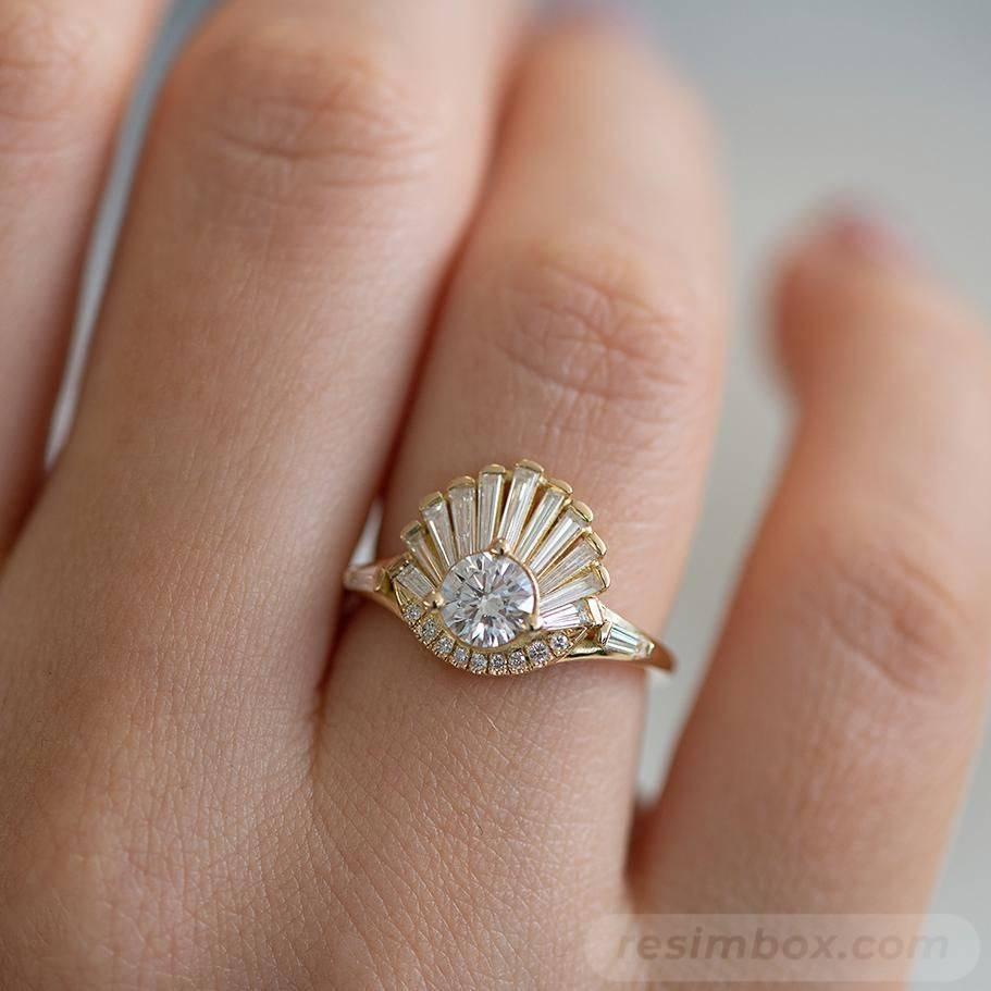 Art deco engagement ring-667517976002346910