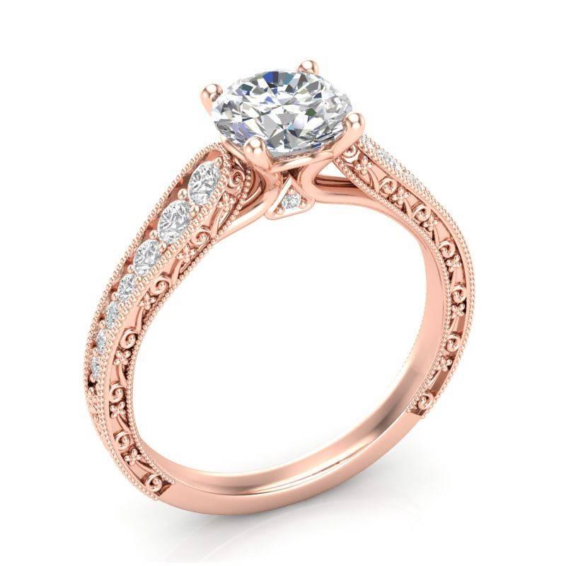 Art deco engagement ring-583216220471001489