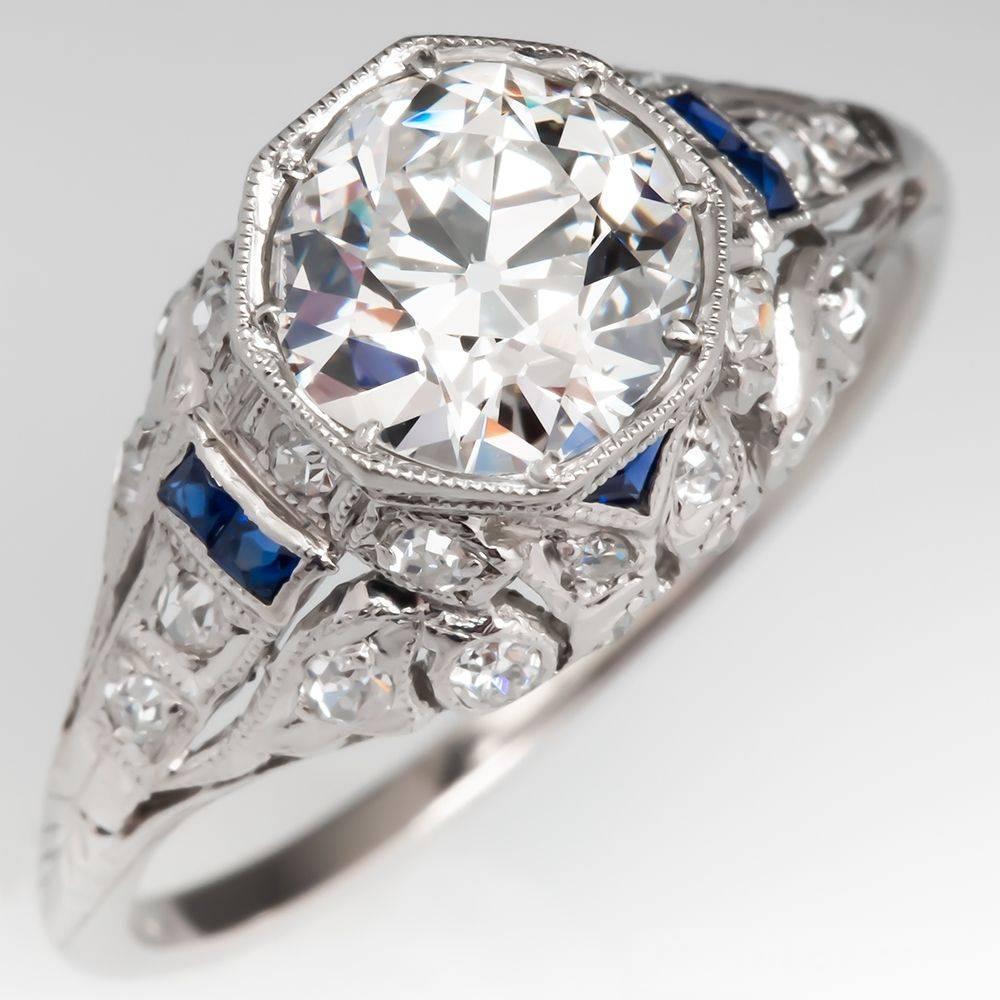 Art deco engagement ring-104708760072925226