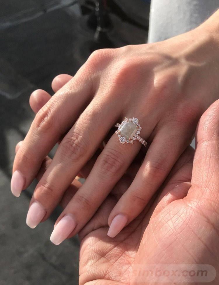 Art deco engagement ring-130252614209098317