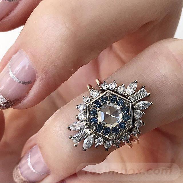 Art deco engagement ring-90353536261141418