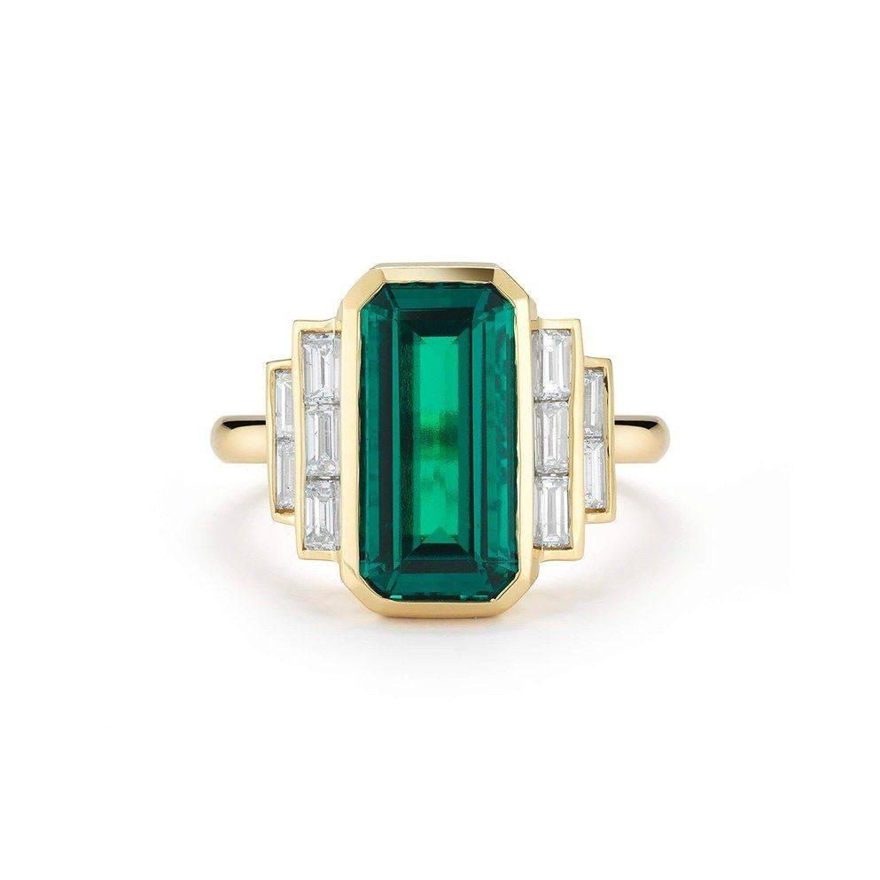 Art deco engagement ring-288511919880235523