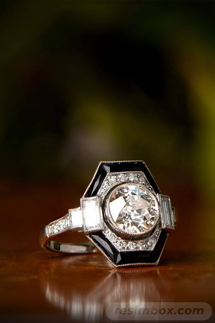Art deco engagement ring-406801778841528240