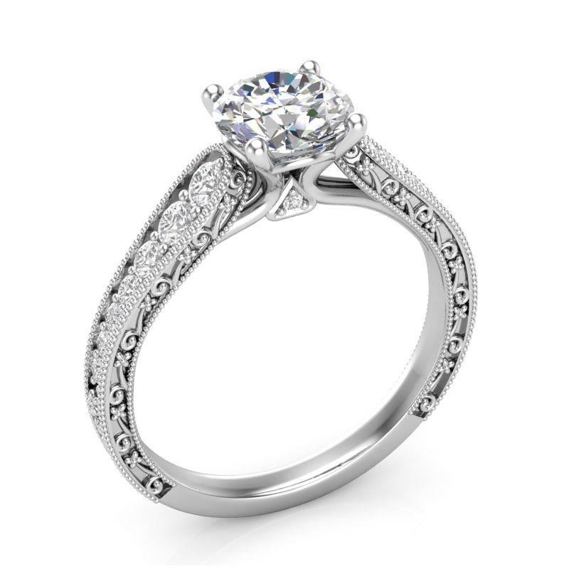 Art deco engagement ring-583216220471077676