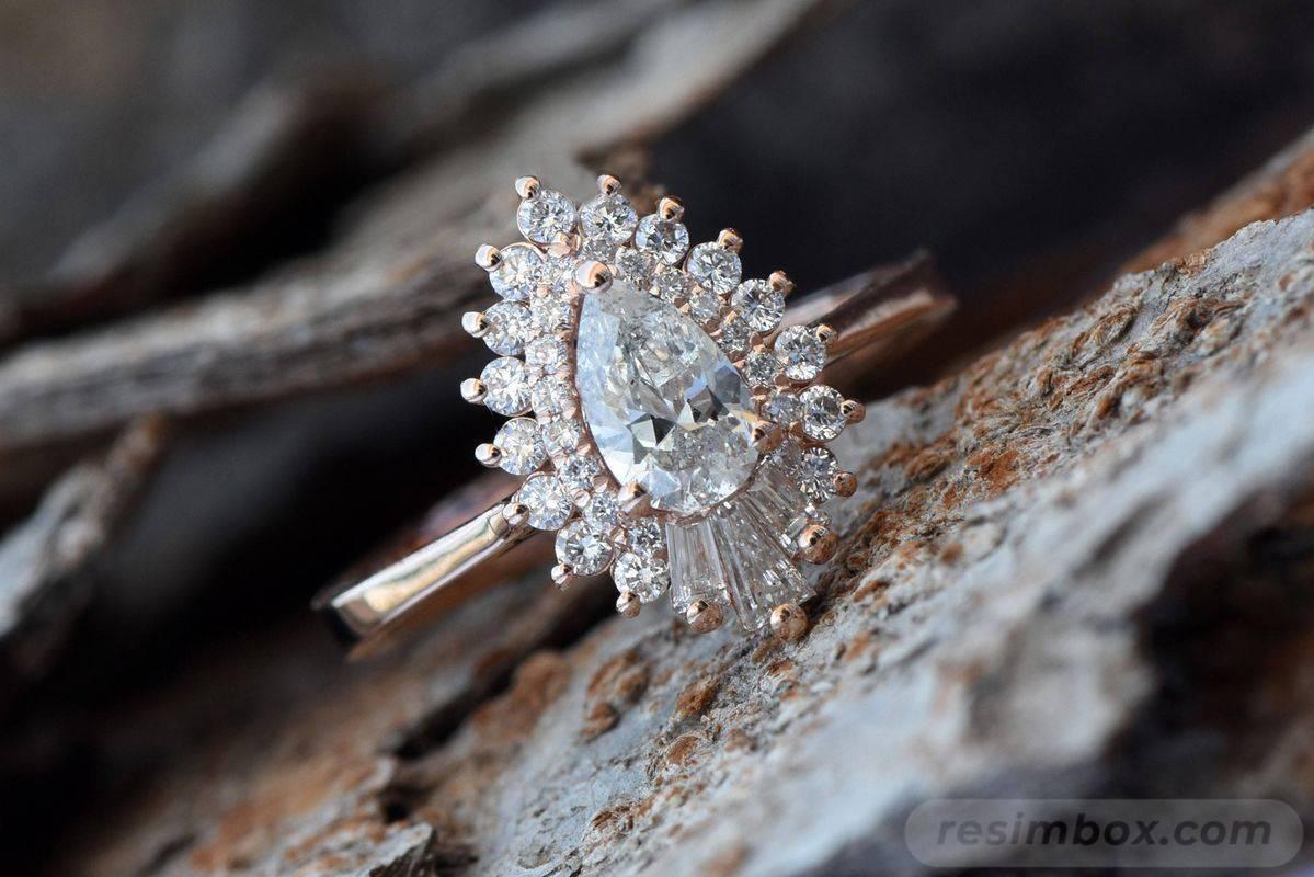 Art deco engagement ring-471118811016362917