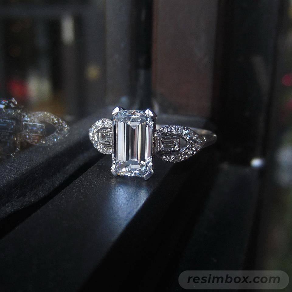 Art deco engagement ring-428404983303113768