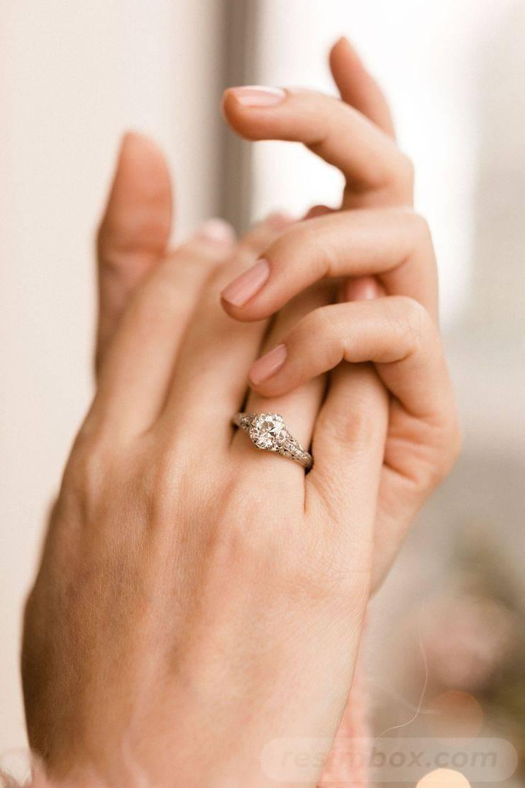 Art deco engagement ring-472033604695455316