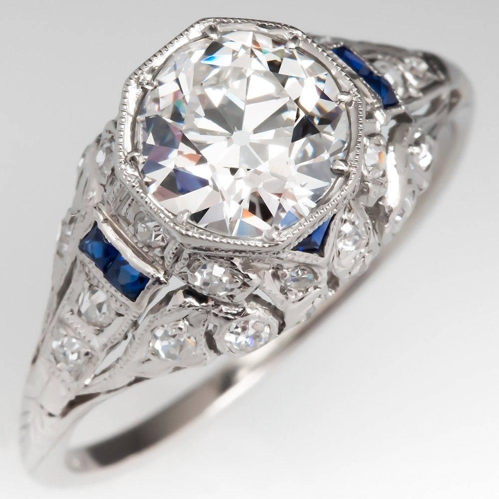 Art deco engagement ring-167477679880078149