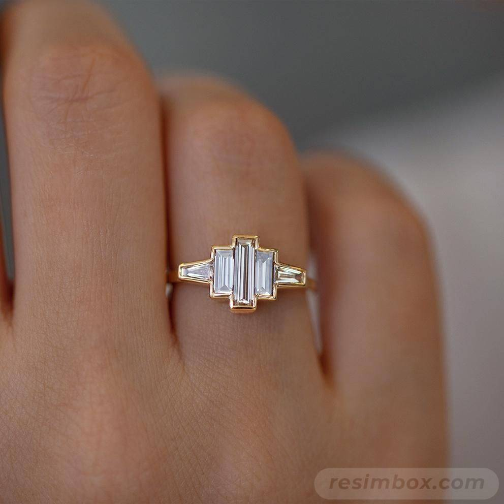 Art deco engagement ring-398568635772015118