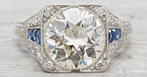 Art deco engagement ring-610941505676869339