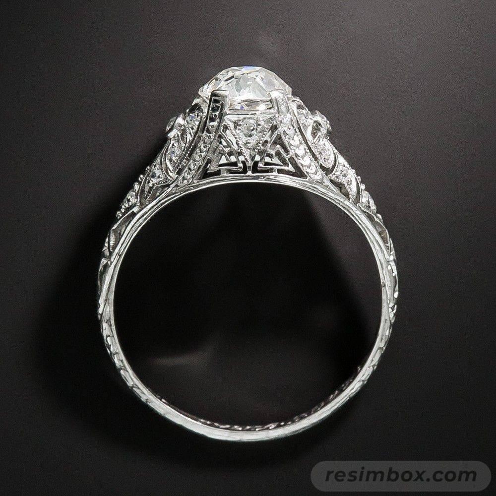 Art deco engagement ring-457115430927472301
