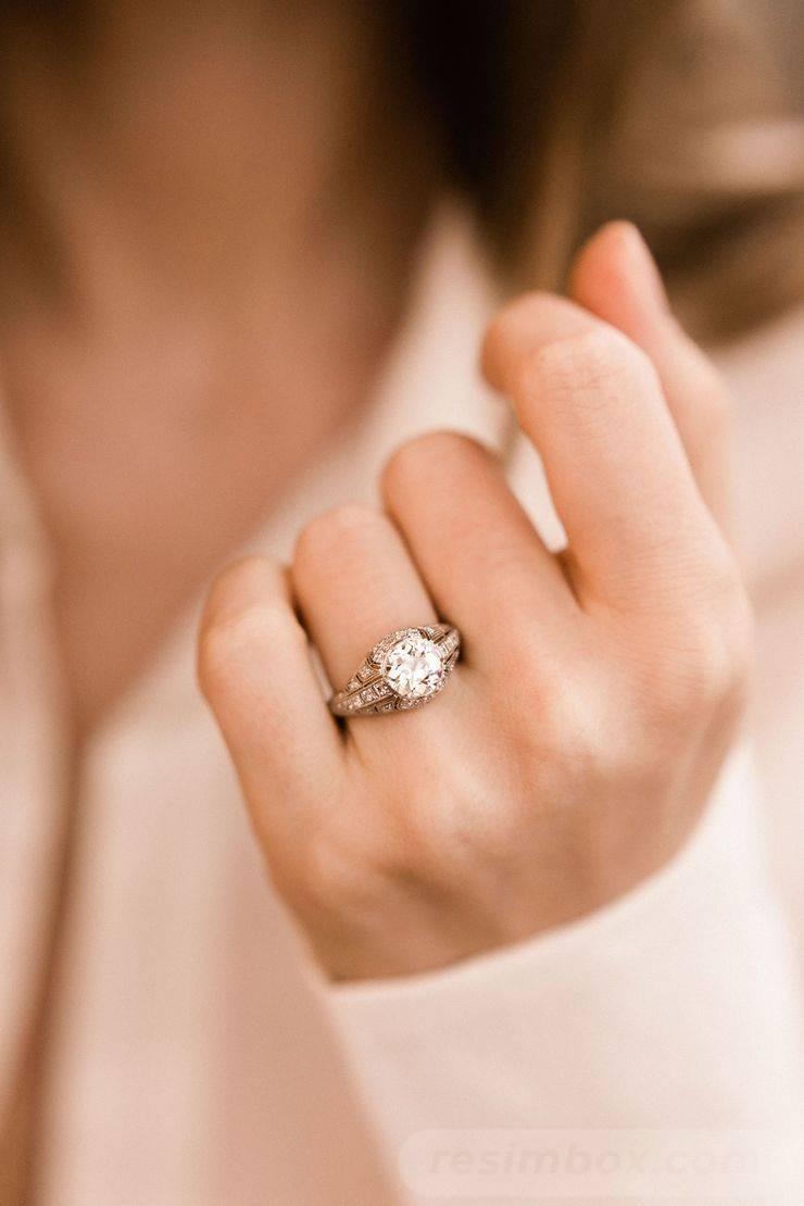 Art deco engagement ring-199002877270551758