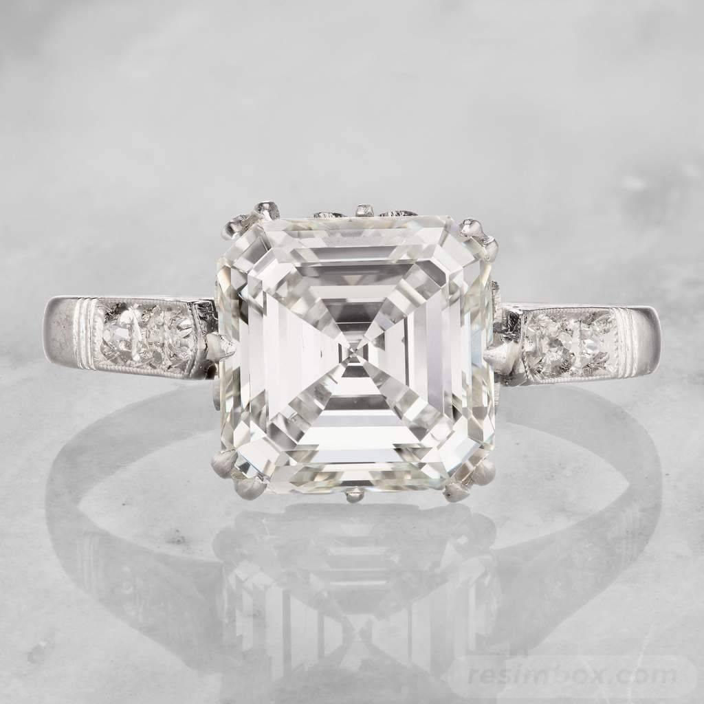 Art deco engagement ring-442900944600955826