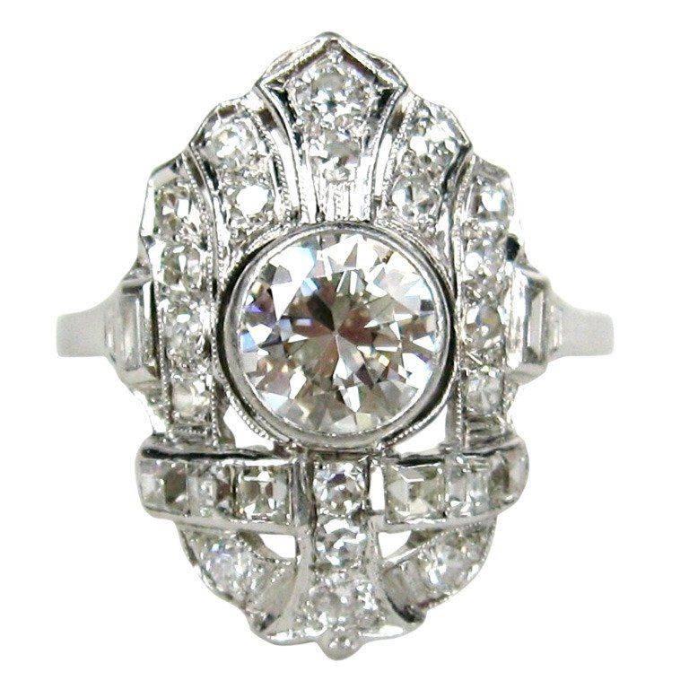 Art deco engagement ring-799740846310284890