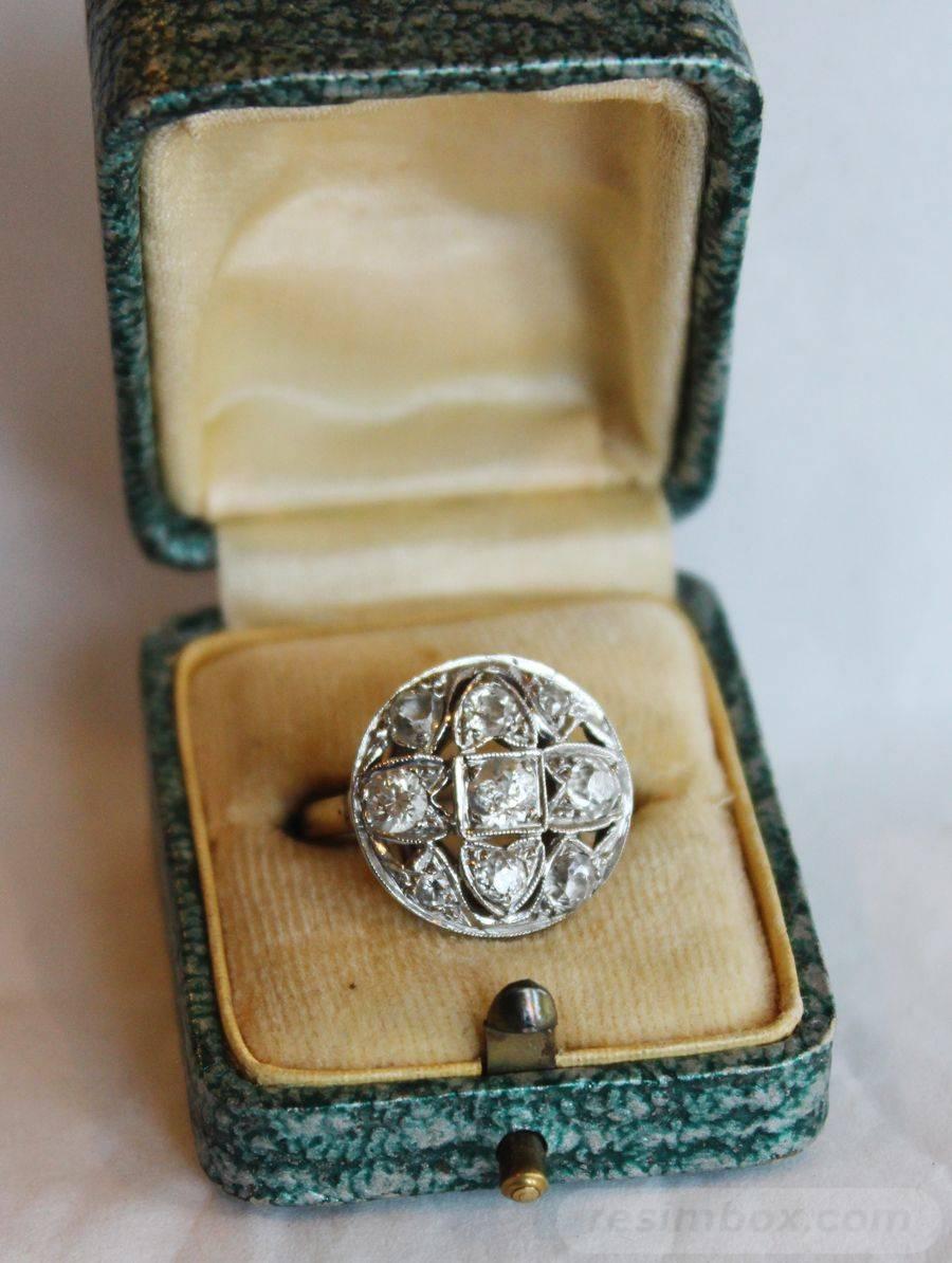 Art deco engagement ring-478437160411534760