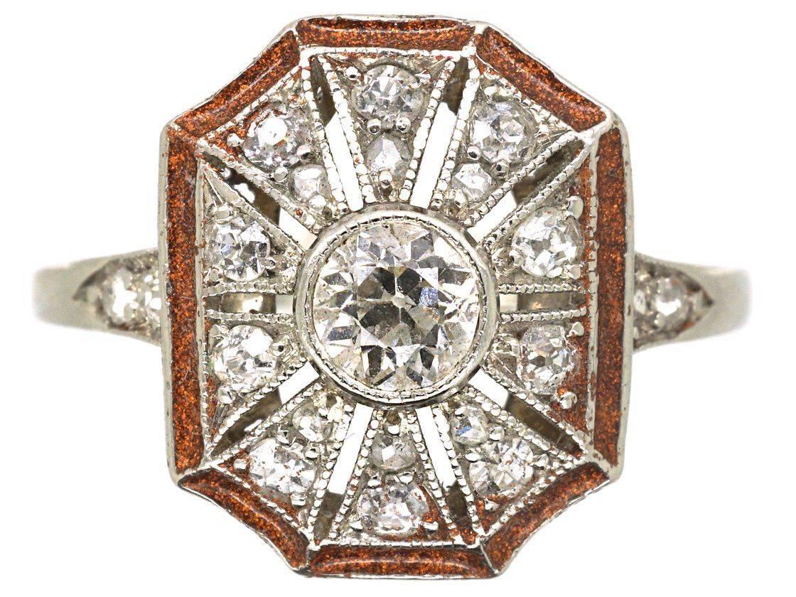 Art deco engagement ring-423690277444313198
