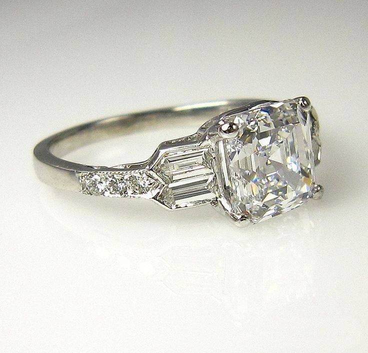Art deco engagement ring-446419381813027571