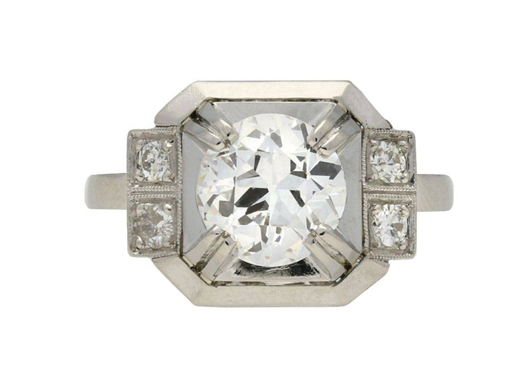 Art deco engagement ring-569423946635068186