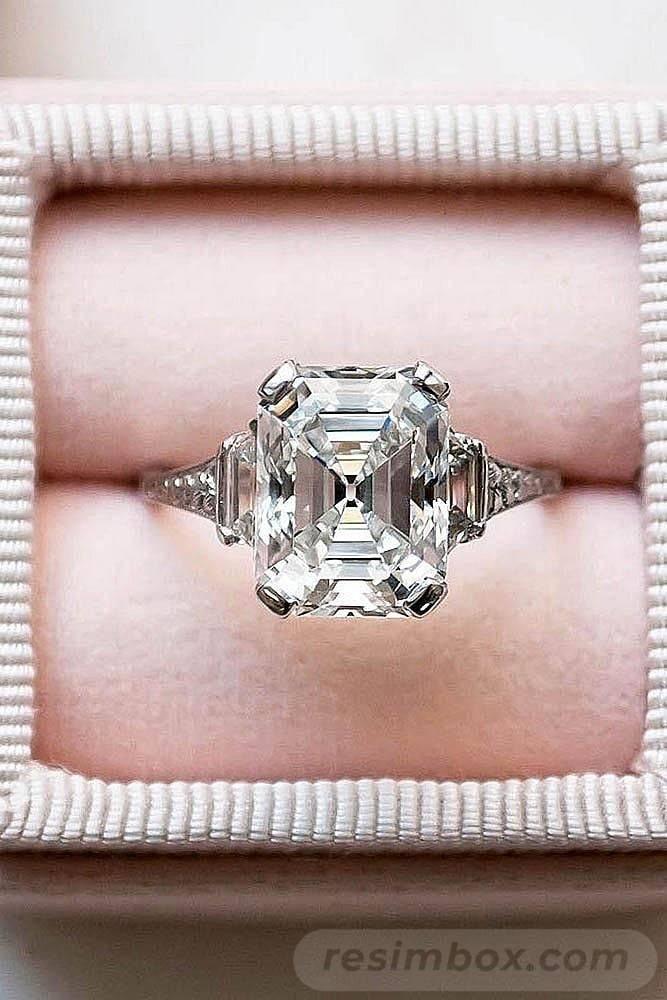 Art deco engagement ring-172825704436650791