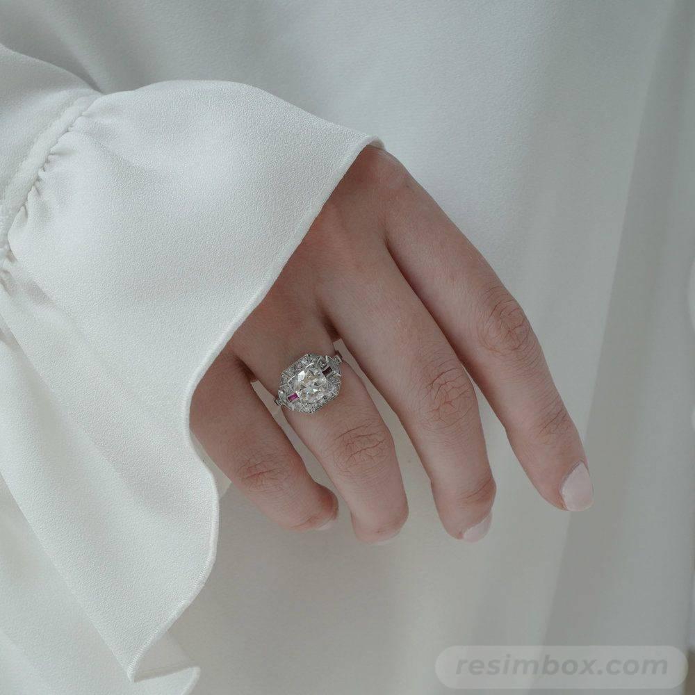 Art deco engagement ring-539165386638611316