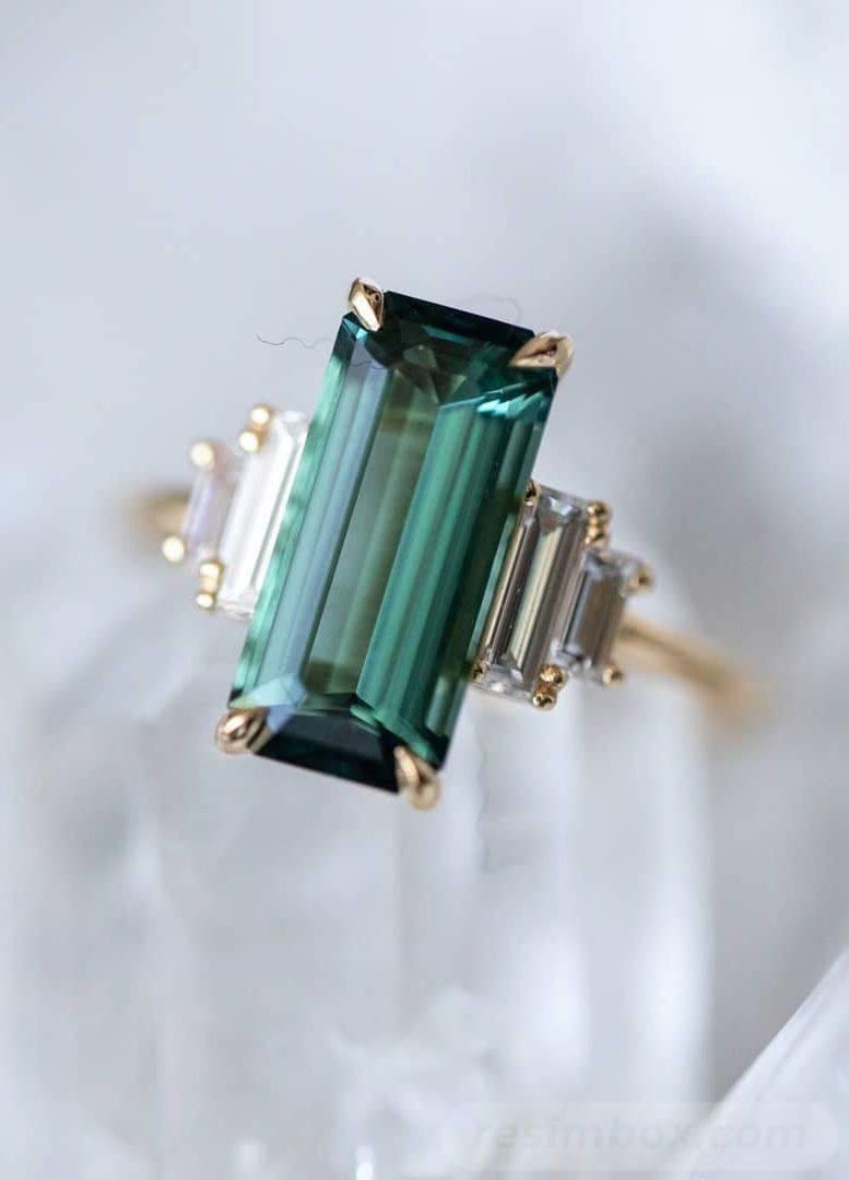 Art deco engagement ring-346003183870469705