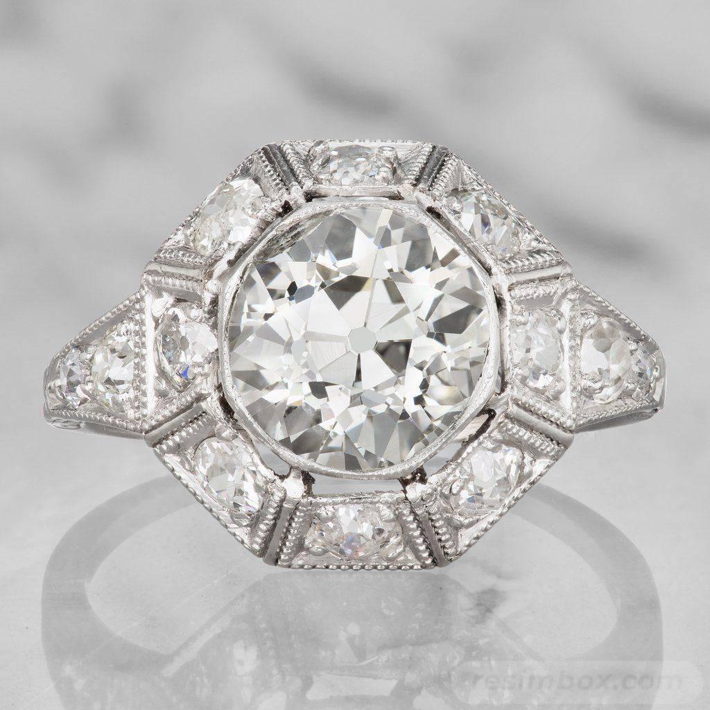 Art deco engagement ring-444941638183114574