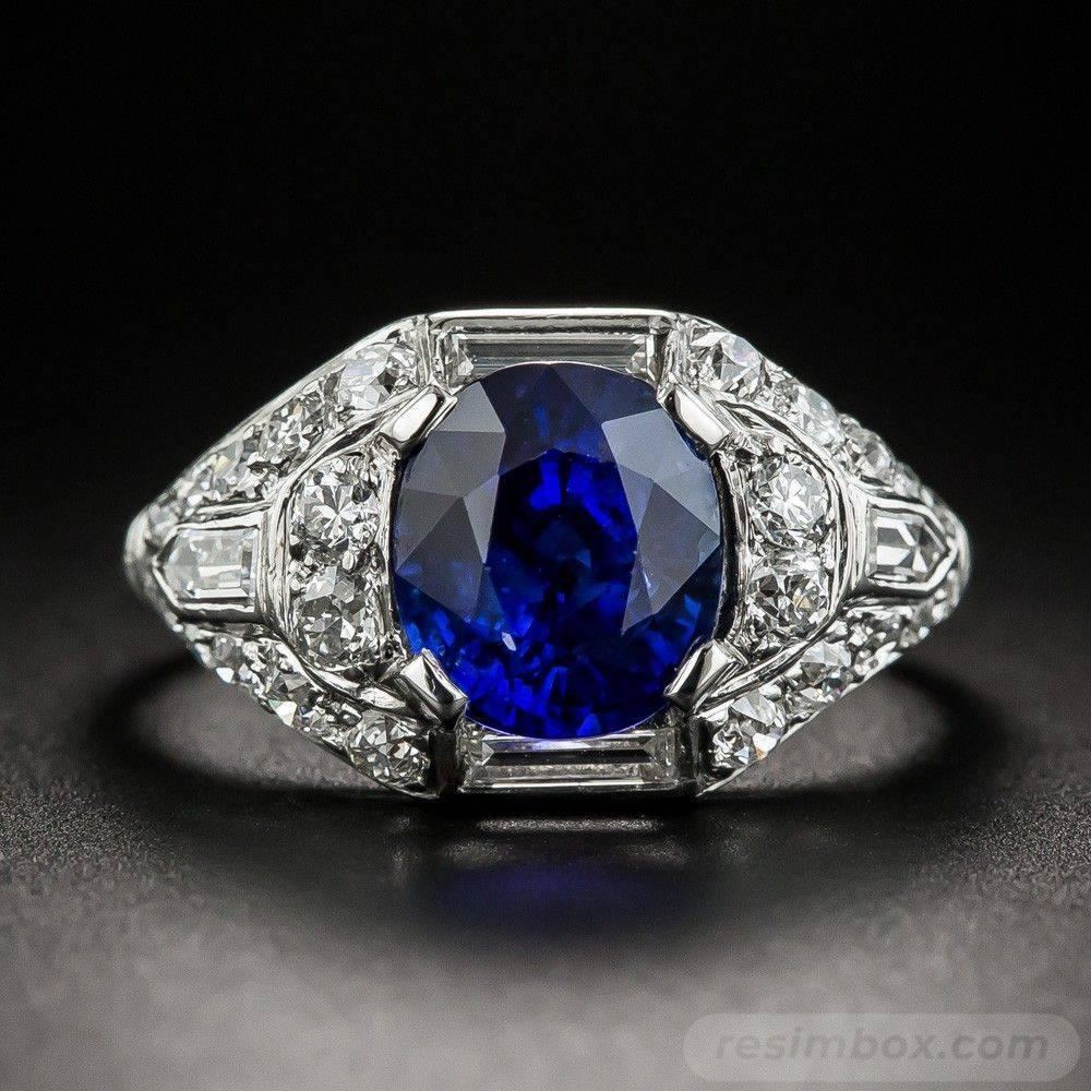 Art deco engagement ring-142215300720364167