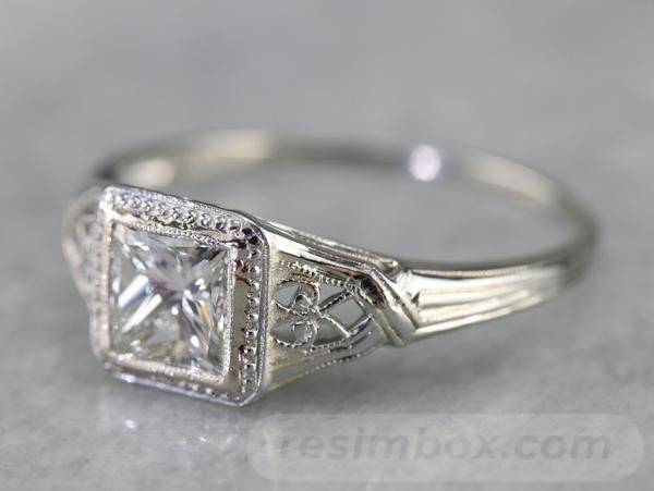 Art deco engagement ring-543106036314027952