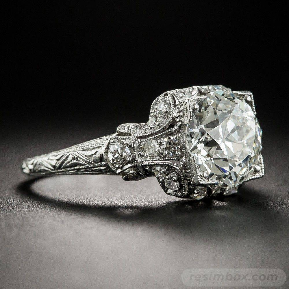 Art deco engagement ring-482729653806190287