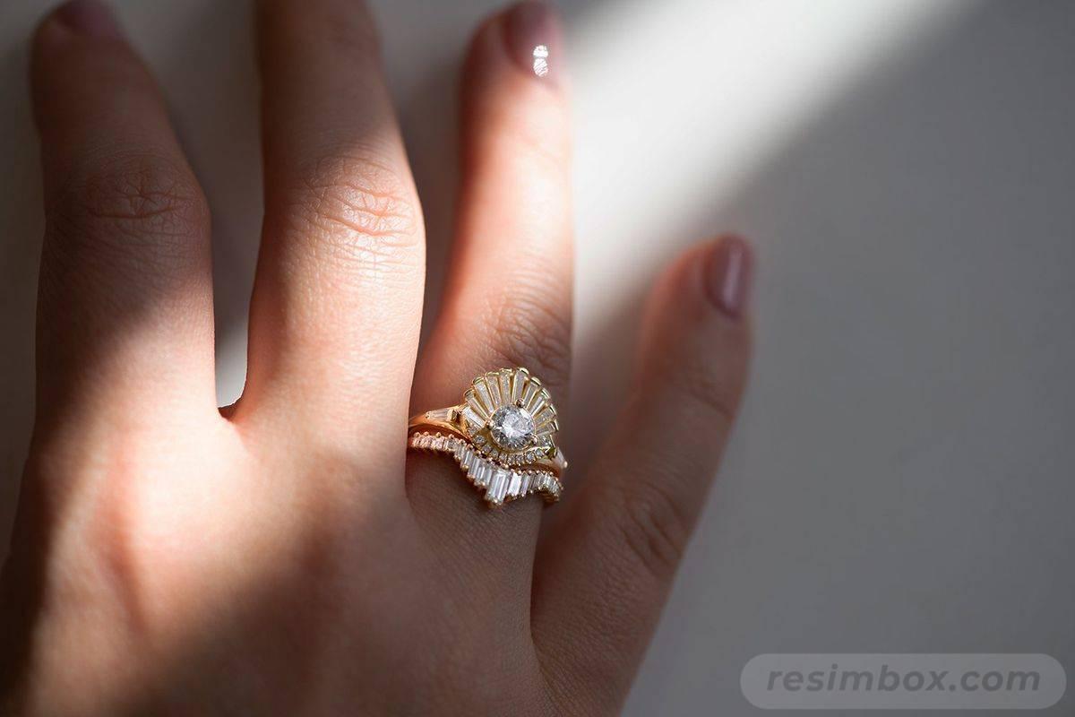 Art deco engagement ring-451063718927686099