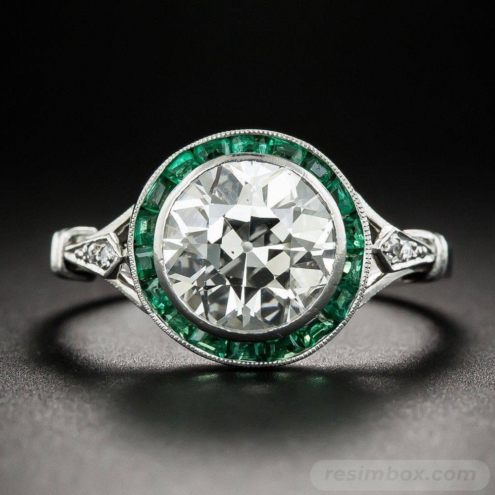 Art deco engagement ring-189925309271849779