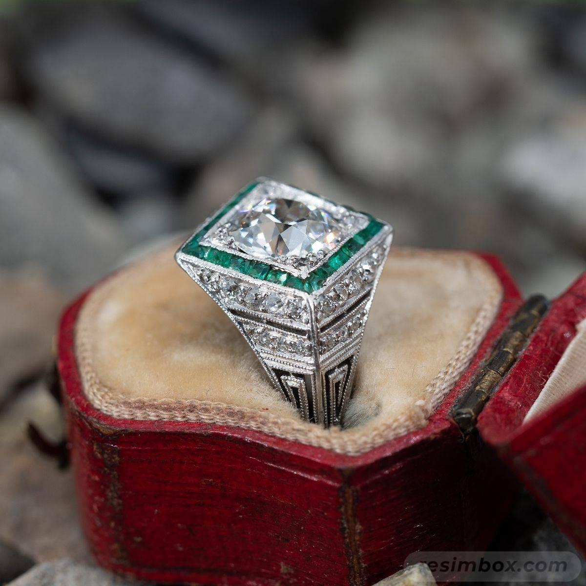 Art deco engagement ring-78109374774010021
