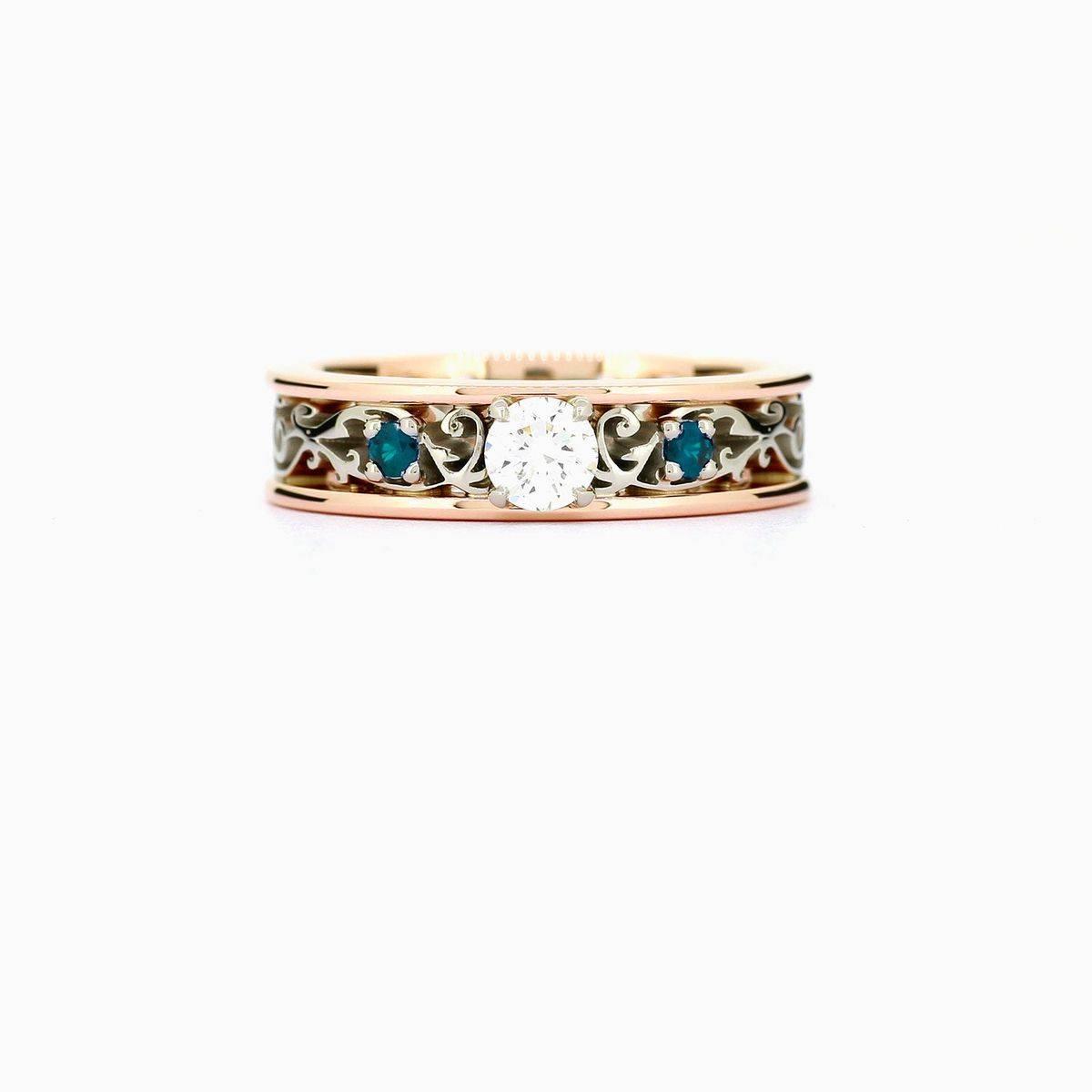 Art deco engagement ring-471118811019840956