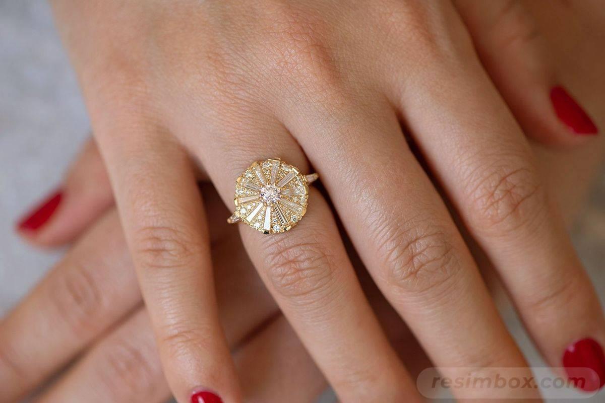 Art deco engagement ring-458170962091077279