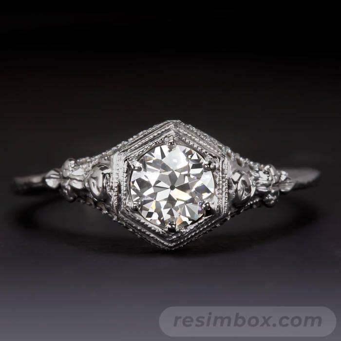 Art deco engagement ring-457467274649117109