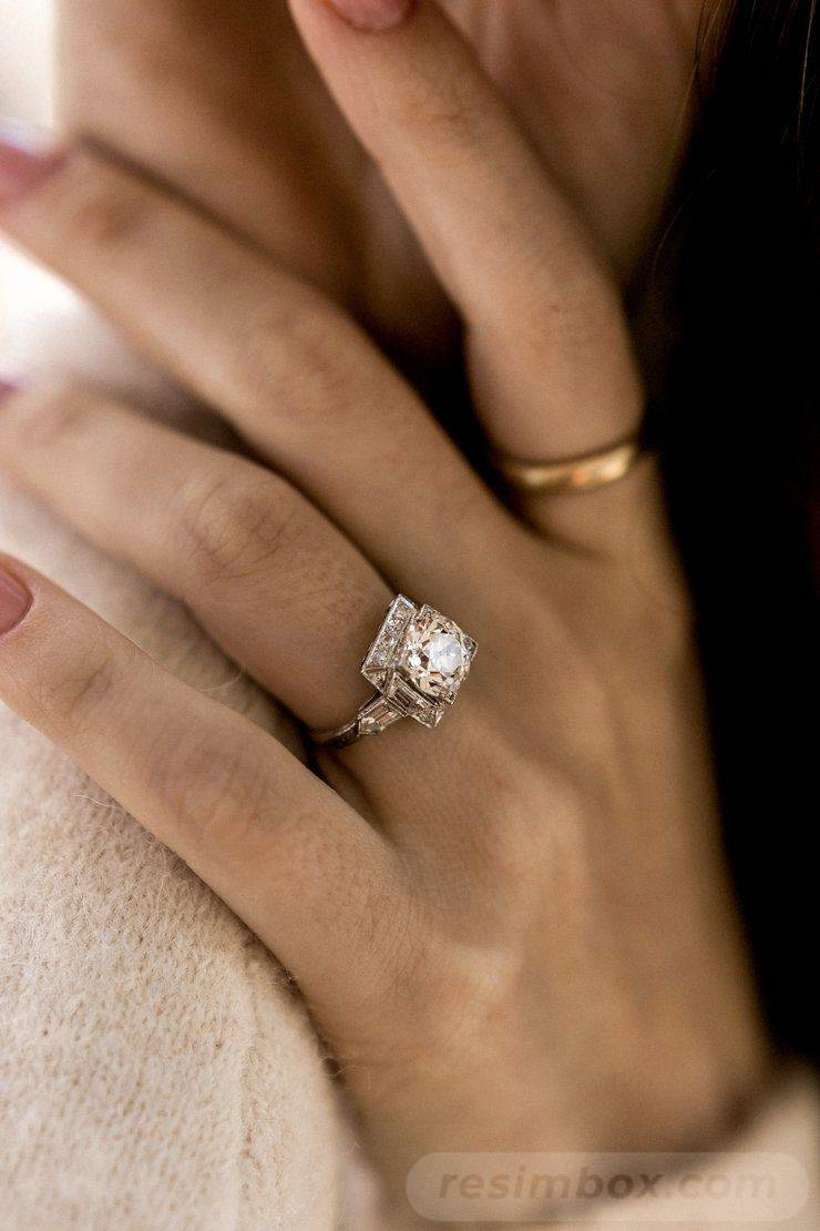 Art deco engagement ring-772367404823405119