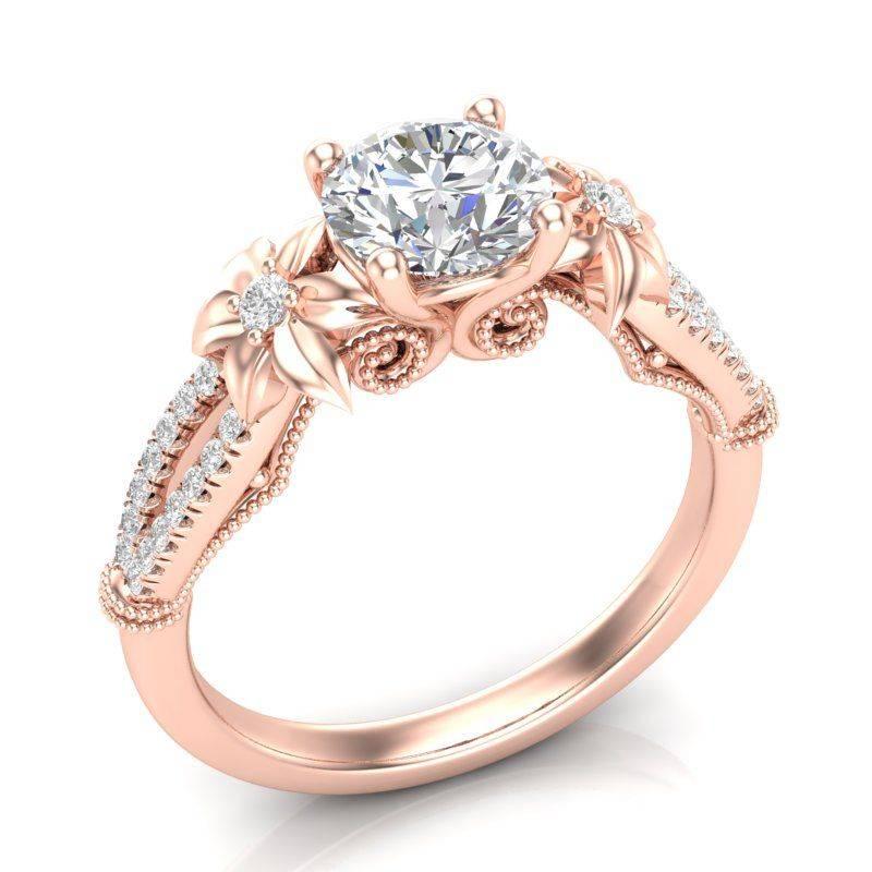 Art deco engagement ring-583216220471080329