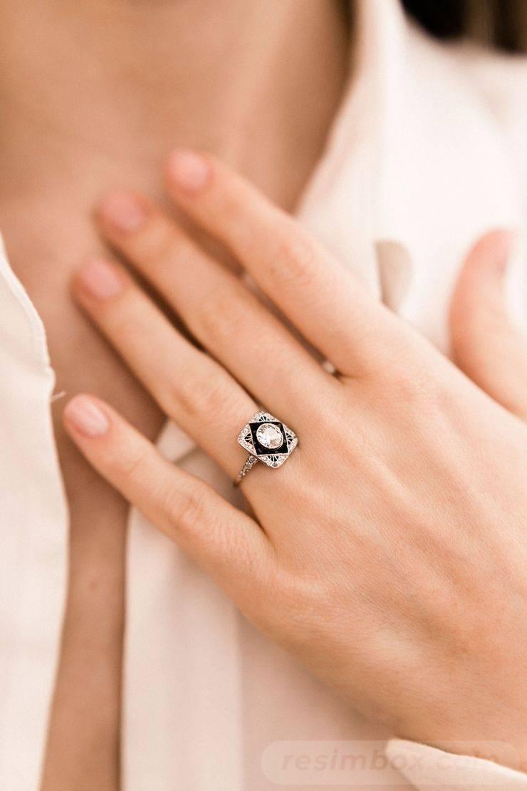 Art deco engagement ring-329818372708205611