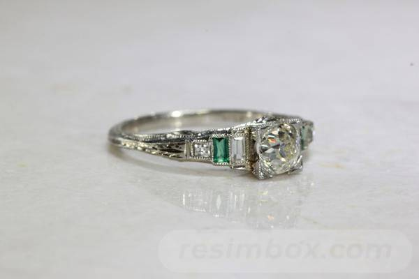 Art deco engagement ring-596656650615710149