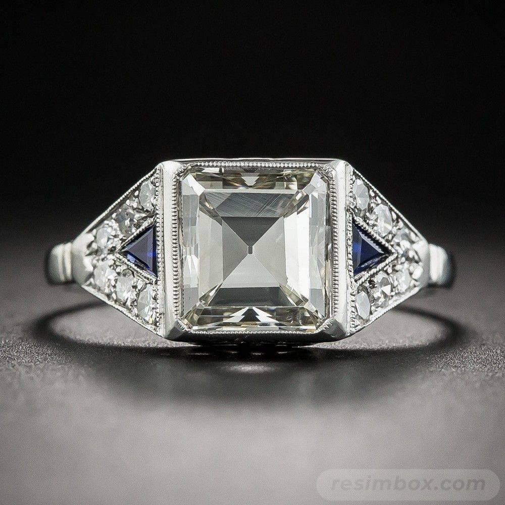 Art deco engagement ring-35325178314674364