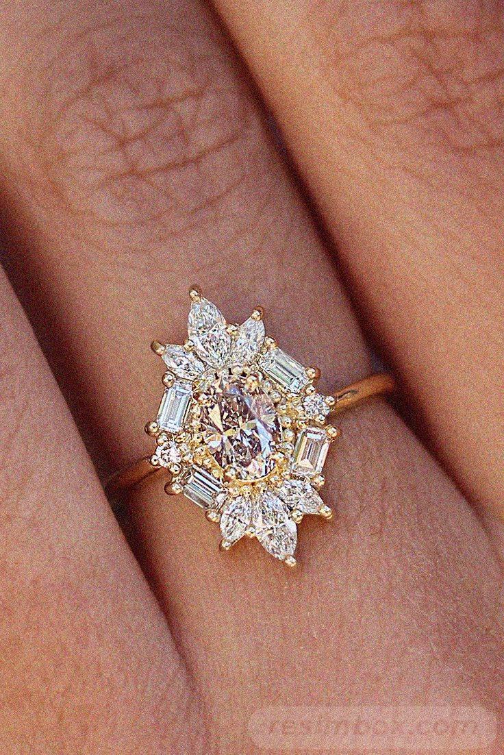 Art deco engagement ring-306033737176445188