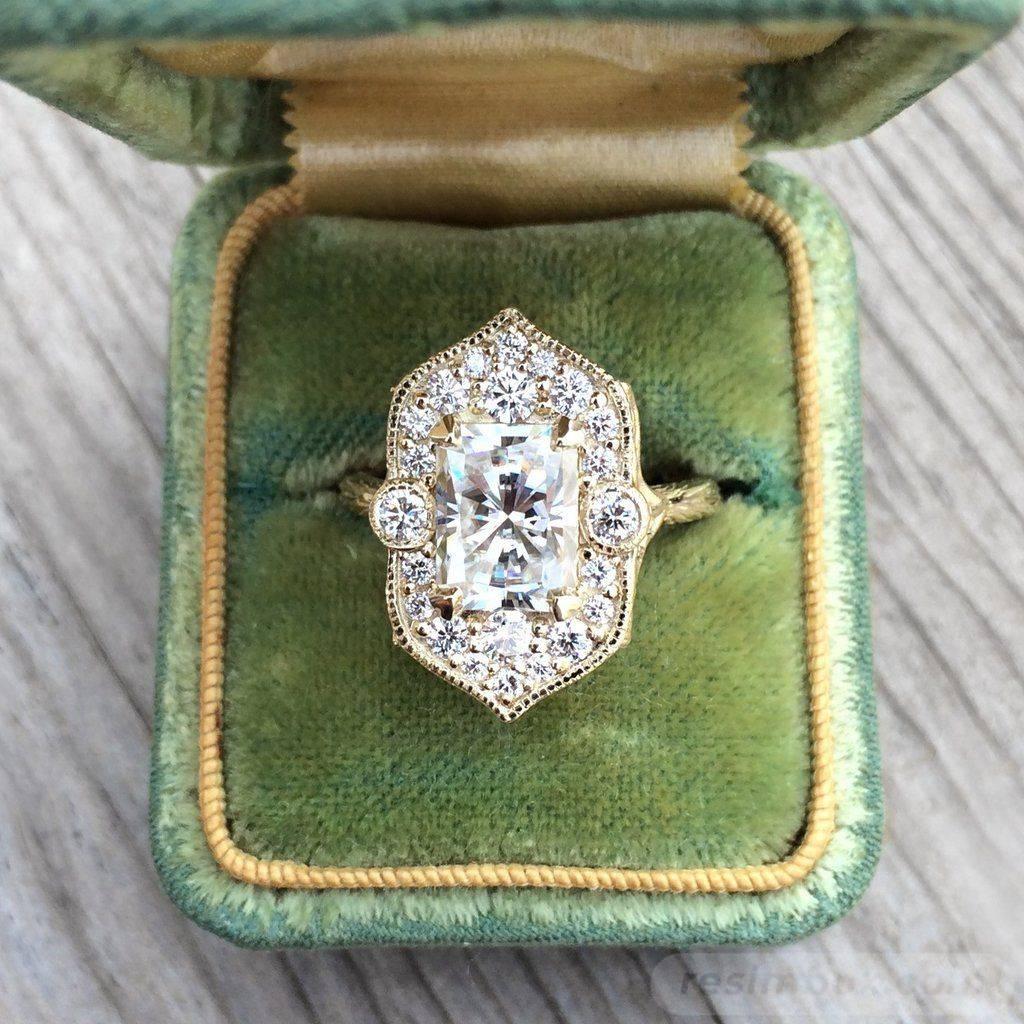 Art deco engagement ring-641551909396779559